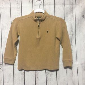 Polo Ralph Lauren 1/4 Zip Tan Sweater Boys 6